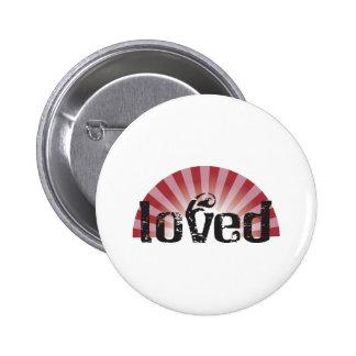 loved 2 inch round button