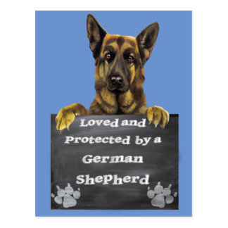 Loved and Protected by a German Shepherd Postcard