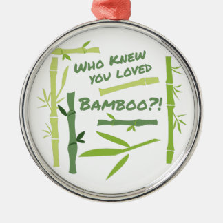 Loved Bamboo Metal Ornament