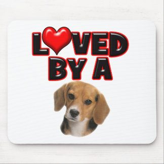 Loved by a Beagle Mouse Pad