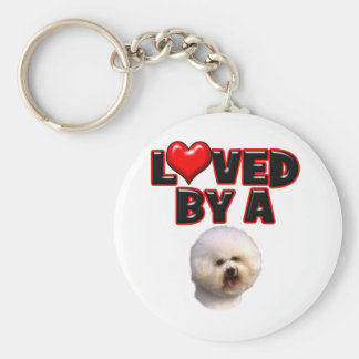 Loved by a Bichon Frise Keychain