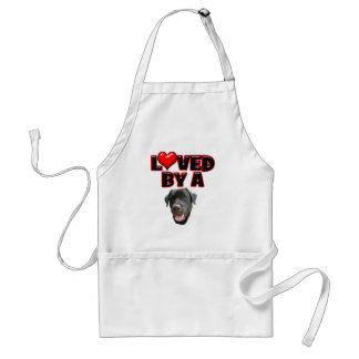 Loved by a Black Lab Adult Apron