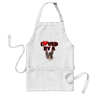 Loved by a Boston Terrier Adult Apron