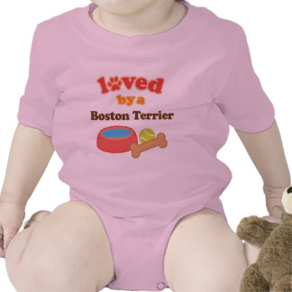 Loved By A Boston Terrier (Dog Breed) Bodysuits