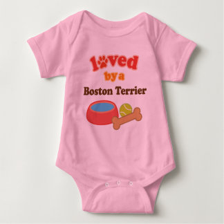 Loved By A Boston Terrier (Dog Breed) T-shirt