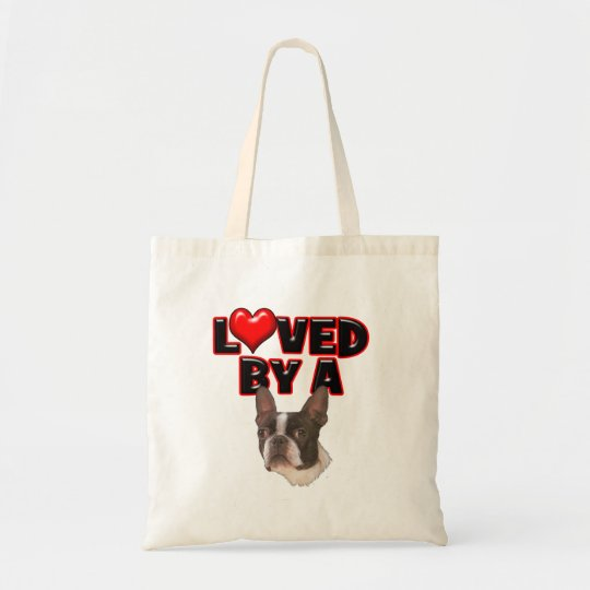 Loved by a Boston Terrier Tote Bag