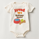 Loved By A Brittany Spaniel (Dog Breed) Romper