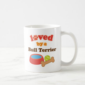 Loved By A Bull Terrier (Dog Breed) Classic White Coffee Mug