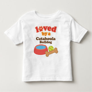 Loved By A Catahoula Bulldog (Dog Breed) Toddler T-shirt