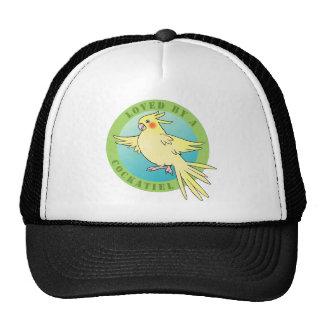 Loved by a Cockatiel Bird Cap Trucker Hat
