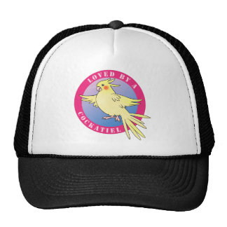 Loved by a Cockatiel Bird Pink Cap Trucker Hat