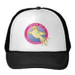 Loved by a Cockatiel Bird Pink Cap Trucker Hats