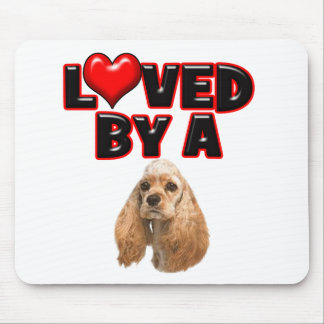 Loved by a Cocker Spaniel Mouse Pad