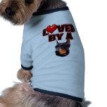 Loved by a Doberman 2 Dog Shirt