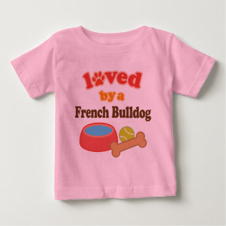 Loved By A French Bulldog (Dog Breed) Tee Shirt