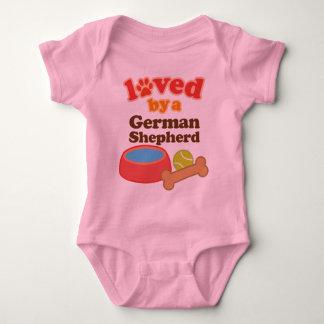 Loved By A German Shepherd (Dog Breed) Baby Bodysuit