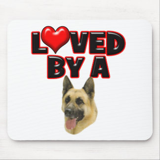 Loved by a German Shepherd Mouse Pad