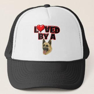 Loved by a German Shepherd Trucker Hat