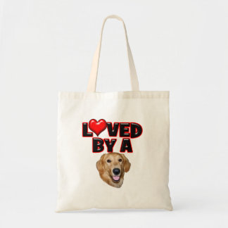 Loved by a Golden Retriever Canvas Bags