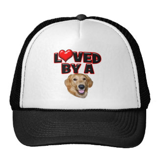 Loved by a Golden Retriever Hats