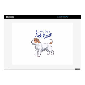 """LOVED BY  A JACK RUSSELL 15"""" LAPTOP SKINS"""