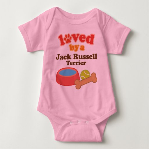 Loved By A Jack Russell Terrier (Dog Breed) Tshirt
