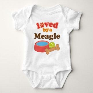 Loved By A Meagle Dog Baby Bodysuit