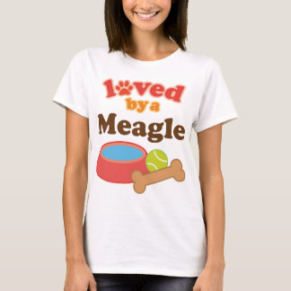 Loved By A Meagle Dog T-Shirt