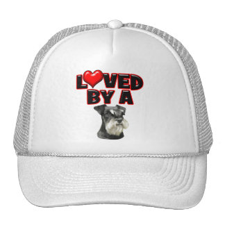 Loved by a Miniature Schnauzer Hats
