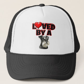 Loved by a Miniature Schnauzer Trucker Hat