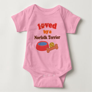 Loved By A Norfolk Terrier (Dog Breed) T Shirt