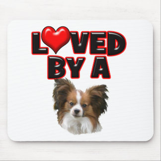 Loved by a Papillon Mouse Pad