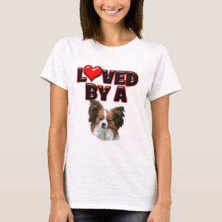 Loved by a Papillon T-Shirt