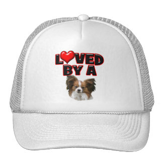 Loved by a Papillon Trucker Hat