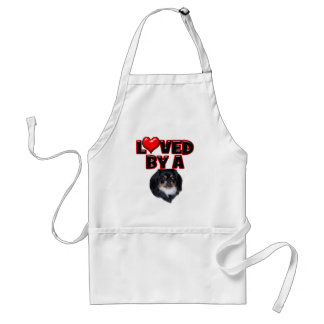 Loved by a Pekingese 2 Adult Apron