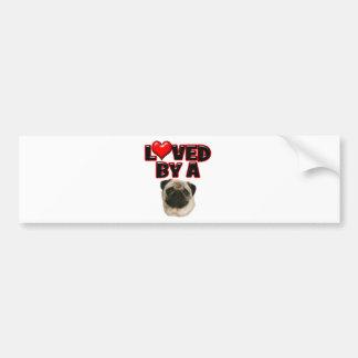 Loved by a Pug Bumper Sticker
