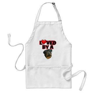Loved by a Rottweiler 2 Adult Apron
