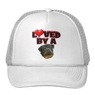 Loved by a Rottweiler 2 Trucker Hat