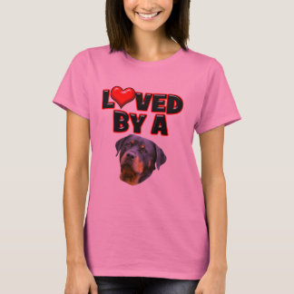 Loved by a Rottweiler 3 T-Shirt