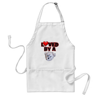 Loved by a Schnoodle Adult Apron