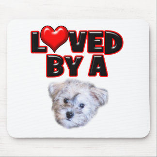 Loved by a Schnoodle Mouse Pad
