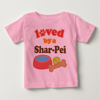 Loved By A Shar-Pei (Dog Breed) Baby T-Shirt