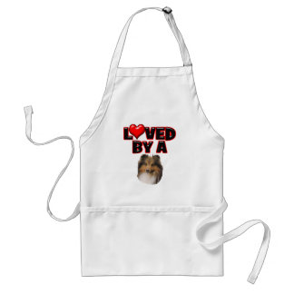 Loved by a Sheltie Adult Apron