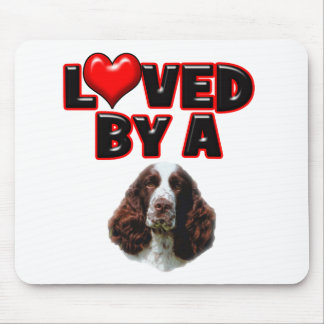 Loved by a Springer Spaniel Mouse Pad