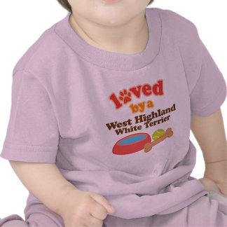 Loved By A West Highland White Terrier (Dog Breed) T-shirts