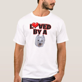 Loved by a Westie T-Shirt