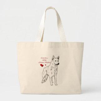 Loved By A White German Shepherd Bag