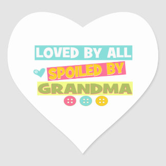 Loved By all spoiled By Grandma Heart Sticker