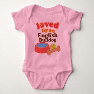 Loved By An English bulldog (Dog Breed) Baby Bodysuit