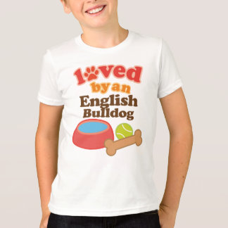 Loved By An English bulldog (Dog Breed) T-Shirt
